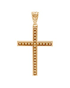 JOHN HARDY - 18K Yellow Gold Classic Chain Jawan Cross Pendant