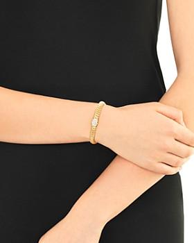 JOHN HARDY - 18K Yellow Gold Classic Chain Diamond Small Bracelet