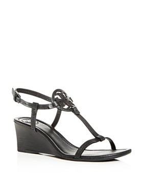 ecb9a749a Tory Burch - Women s Miller T-Strap Wedge Sandals ...