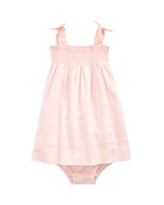 Ralph Lauren - Girls' Smocked Cotton Dress & Bloomers - Baby