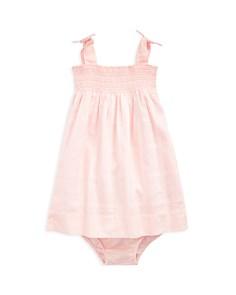 Ralph Lauren - Girls' Smocked Cotton Dress & Bloomers - Baby