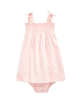 b441e56700851 Ralph Lauren - Girls  Smocked Cotton Dress   Bloomers - Baby ...