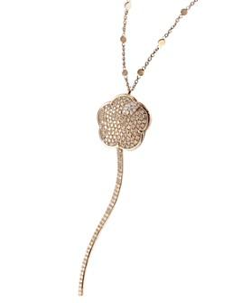 "Pasquale Bruni - 18K Rose Gold Joli White & Champagne Diamond Pendant Necklace, 35"""