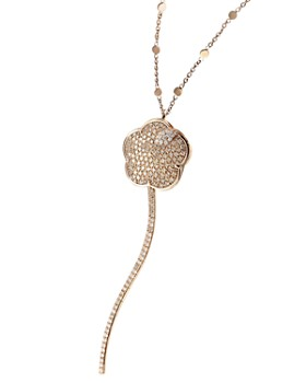 Pasquale Bruni - 18K Rose Gold Joli White & Champagne Diamond Pendant Necklace, 35""