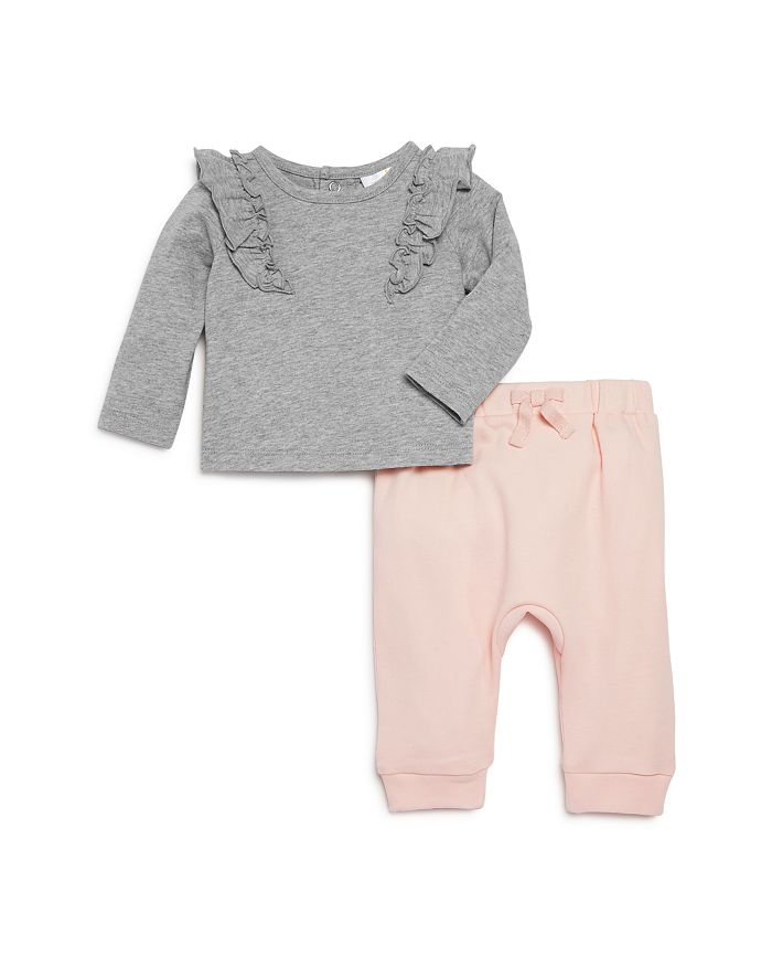 Bloomie's - Girls' Ruffled Top & Jogger Pants Set, Baby - 100% Exclusive