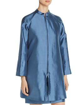 Armani - Pleated-Back Zip Coat