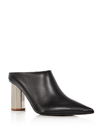 Proenza Schouler - Women's Pointed Toe Block Heel Mules