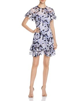 Elie Tahari - Yonica Floral-Burnout Dress