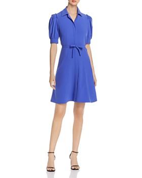 Elie Tahari - Mildred Puff-Sleeve Shirt Dress