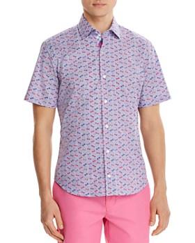 TailorByrd - Sunglasses Print Short-Sleeve Classic Fit Shirt