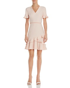 Shoshanna - Belleme Crepe Ruffle Dress