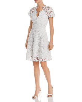 Shoshanna - Santenay Lace Fit-and-Flare Dress