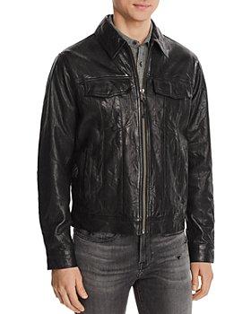 FRAME - Leather Trucker Jacket