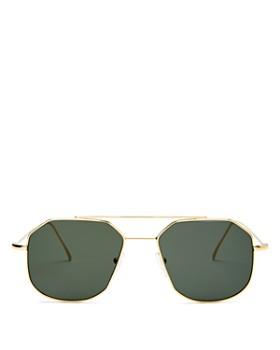 6b80dbd885bc Illesteva - Women's Montevideo Brow Bar Geometric Sunglasses, ...