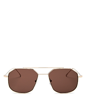 Illesteva Women's Montevideo Brow Bar Geometric Sunglasses, 53mm