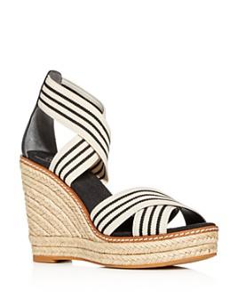 Tory Burch - Women's Frieda Platform Wedge Espadrille Sandals