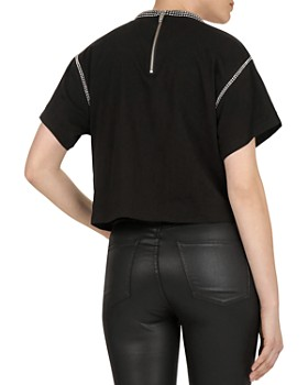 The Kooples - Studded Jersey Top