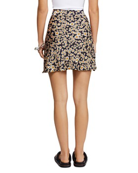 Free People - Phoebe Daisy-Print Mini Skirt