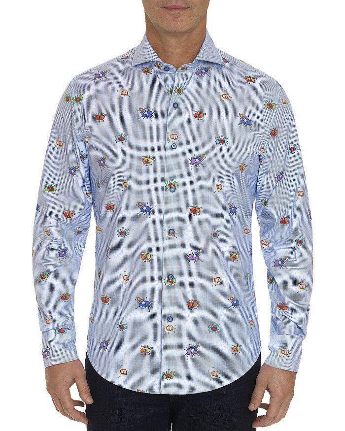 Robert Graham - Boom Smack Animated Print Classic Fit Shirt