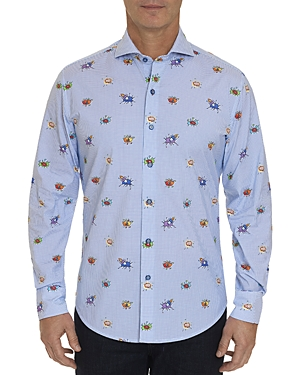 Robert Graham T-shirts BOOM SMACK ANIMATED PRINT CLASSIC FIT SHIRT