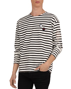 The Kooples - Striped Cotton Crewneck Long-Sleeve Tee