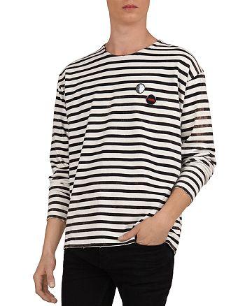 The Kooples - Striped Cotton Crewneck Long-Sleeve Tee