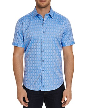 Robert Graham - Atlas Short-Sleeve Jacquard Print Classic Fit Shirt