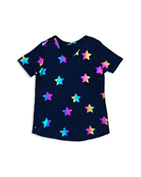 Terez - Girls' Rainbow-Foil Star Tee - Little Kid, Big Kid