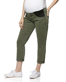 PAIGE - Brigitte Maternity Jeans in Vintage Green