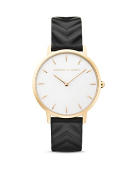 Rebecca Minkoff - Leather Strap Major Watch, 35mm