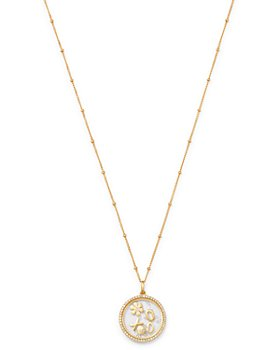 Zoe Lev - 14K Yellow Gold Diamond Love Locket Pendant Necklace, 22""
