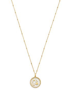 Zoe Lev - 14K Yellow Gold Diamond Luck Locket Pendant Necklace, 22""