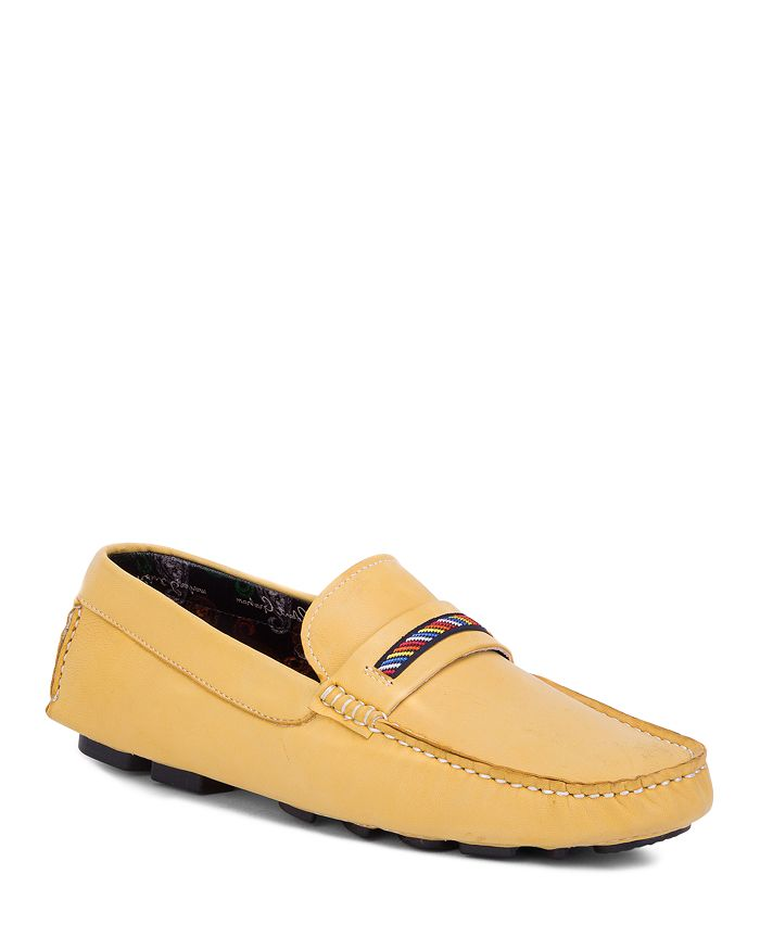 Robert Graham Men's Hart Ii Moccasin Loafers In Yellow Leather
