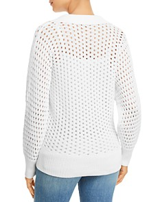 kate spade new york - Openwork Polo Sweater