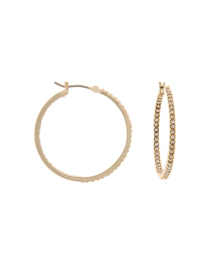 Ralph Lauren - Pavé Small Gold-Tone Hoop Earrings