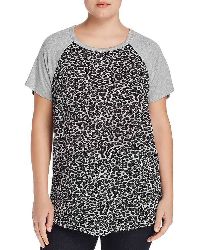 Status by Chenault Plus - Leopard-Front Tee
