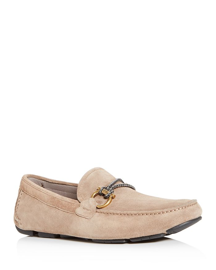 Salvatore Ferragamo - Men's Suede Moc-Toe Drivers