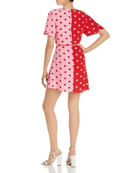 S/W/F - Hill Polka-Dot Wrap Dress