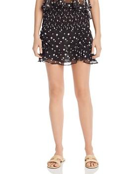The East Order - Mimi Smocked Floral-Print Mini Skirt