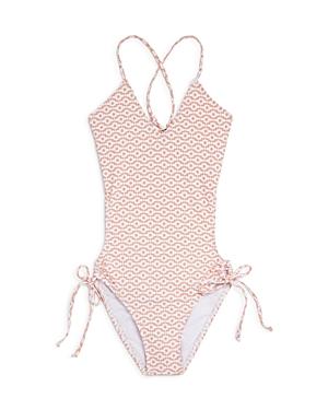 Splendid Girls\\\' Ogee Print Cut-Out Swimsuit - Big Kid-Kids