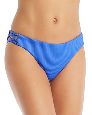 Luli Fama Orillas Del Mar Lace Up Bikini Bottom