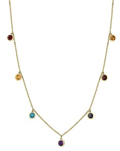 "Bloomingdale's - Rainbow Gemstone Droplet Necklace in 14K Yellow Gold, 18"" - 100% Exclusive"