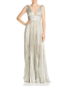 Maria Lucia Hohan - Riley Pleated Metallic Gown