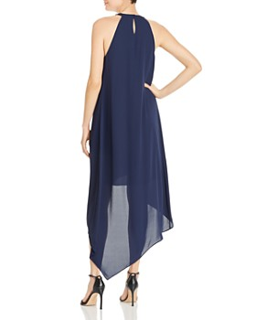 BCBGMAXAZRIA - High/Low Draped Gown - 100% Exclusive
