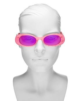 Gucci - Women's Mirrored Oval Sunglasses, 52mm
