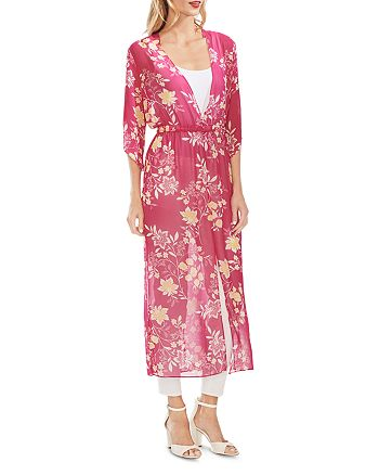 VINCE CAMUTO - Sheer Floral Maxi Dress