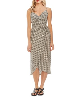 VINCE CAMUTO - Paisley Cami Wrap Dress