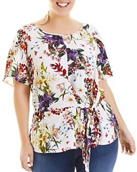 Estelle Plus - Bright Oasis Floral Top