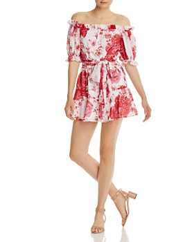 9496792d9d2a Finders Keepers - Enchanted Floral Off-the-Shoulder Mini Dress - 100%  Exclusive ...