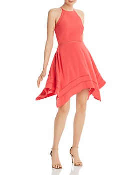AQUA - Ladder-Inset Fit-and-Flare Dress - 100% Exclusive